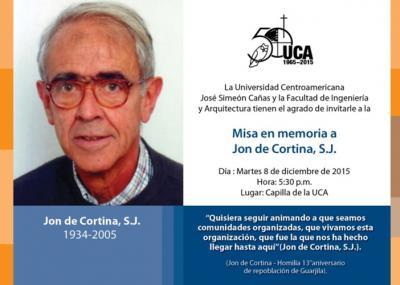 Misa en memoria a Jon Cortina