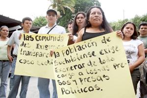 Piden terminar proceso judicial contra detenidos en Suchitoto