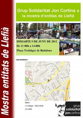 GSJC a la mostra d'entitats de Llefià 2012